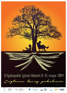 Plakat Tygodnia Bibliotek 2014