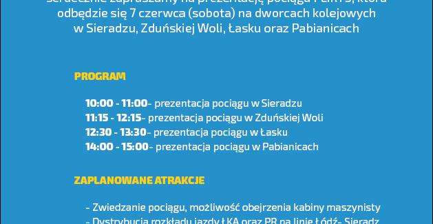 Prezentacja pociągu FLIRT3 w Łasku