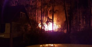 pożar kolumna