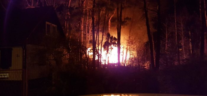 Drewniak  w ogniu