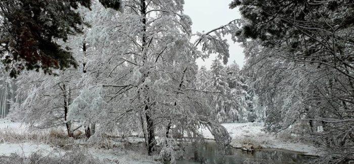 Piękna zima bez prądu
