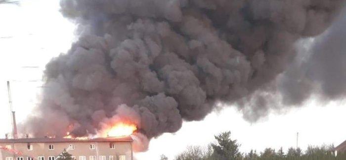 Ogromny pożar w Gorczynie