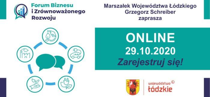 Forum Biznesu i Zrównoważonego Rozwoju – Łódzkie 2020