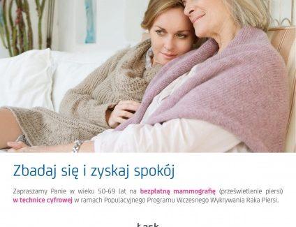 Bezpłatne badania mamograficzne
